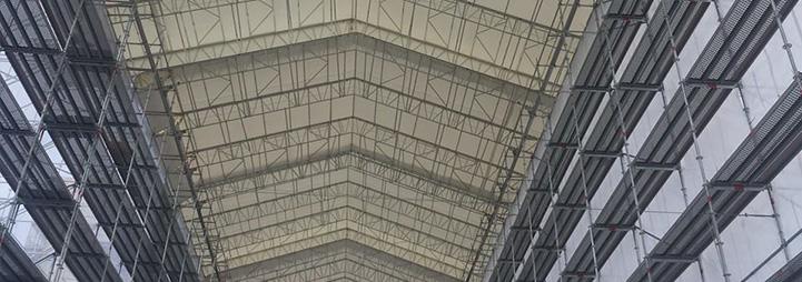 Väderskydd för byggprojekt